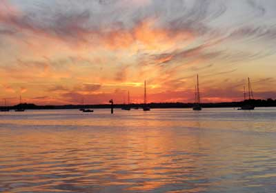 Sunset on Amelia River